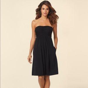 Soma Shirred Strapless Dress